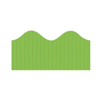 Bordette Pacon Scalloped Decorative Border, 2-1/4 in X 50 ft, Apple Green