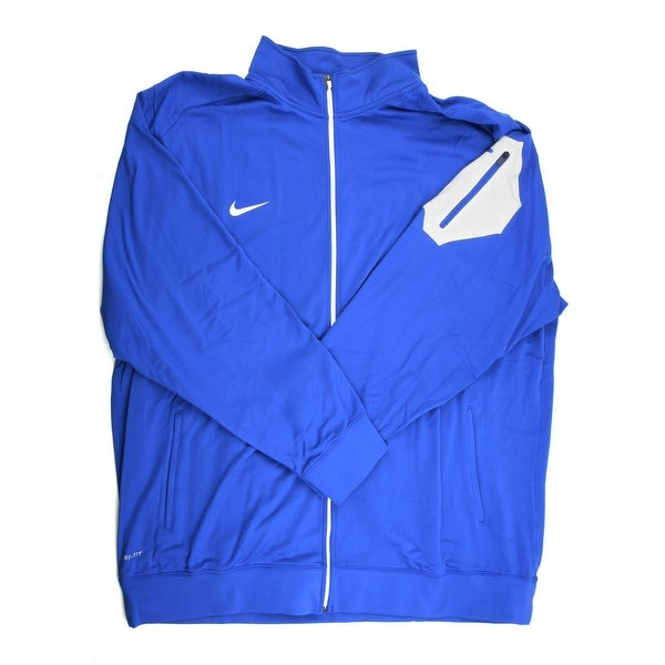 4dc3849a Shop Nike Dri-FIT Men's Blue/White Full-Zip Jacket - 4X Large - Free  Shipping Today - Overstock - 21293621