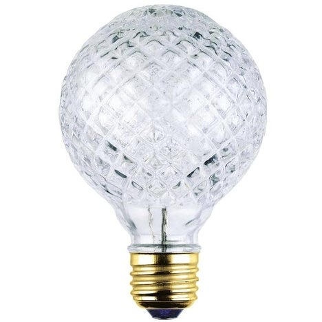 Westinghouse 05017 G25 Eco-Halogen Cut Glass Light Bulb, 40 Watt