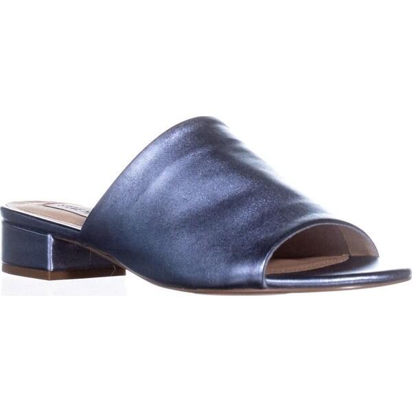 Steve Madden Briele Flat Sandals, Blue Metallic - 6.5 us