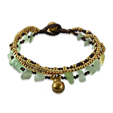 Handmade Brass Beaded Jingle Bell Bracelet (Thailand)
