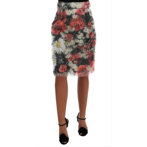 Dolce & Gabbana Floral Patterned Pencil Straight Women's Skirt