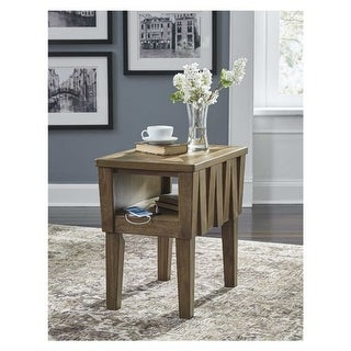 Rowenbeck Chair Side End Table Brown Chair Side End Table