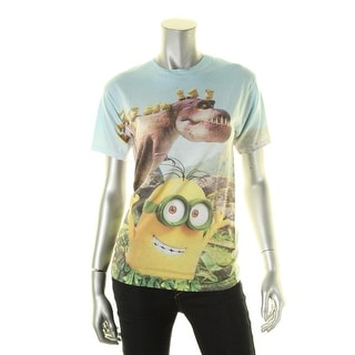 Minions Mens T-Shirt Graphic Crew Neck - S