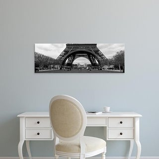 Easy Art Prints Panoramic Images's 'Low section view of a tower, Eiffel Tower, Paris, France' Premium Canvas Art