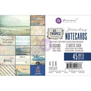 Prima Marketing 992767 4 x 6 in. St. Tropez Journaling Cards