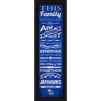 "Kansas Jayhawks Family Cheer Print 8""x24"""