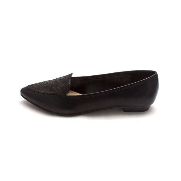 Ann Marino Womens sadie Pointed Toe Loafers - black-sm - 8