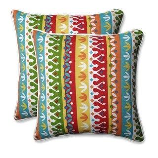"""Set of 2 Cotrell Garden Square Throw Pillows 18.5"""""""