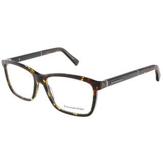 Ermenegildo Zegna EZ5012/V 054 Havana Rectangular prescription-eyewear-frames