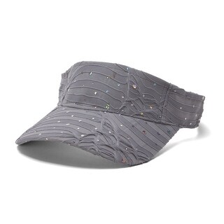 Glitter Sequin Visor in 19 Assorted Colors - Silver