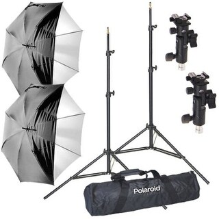Polaroid Pro Studio Digital Flash Umbrella Mount Kit-Stands, Umbrellas, Adapters