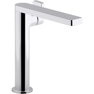 Kohler K-73168-4 Composed 1.2 GPM Single Hole Vessel Bathroom Faucet with Lever Handle and Drain Assembly (Option: Steel Finish)
