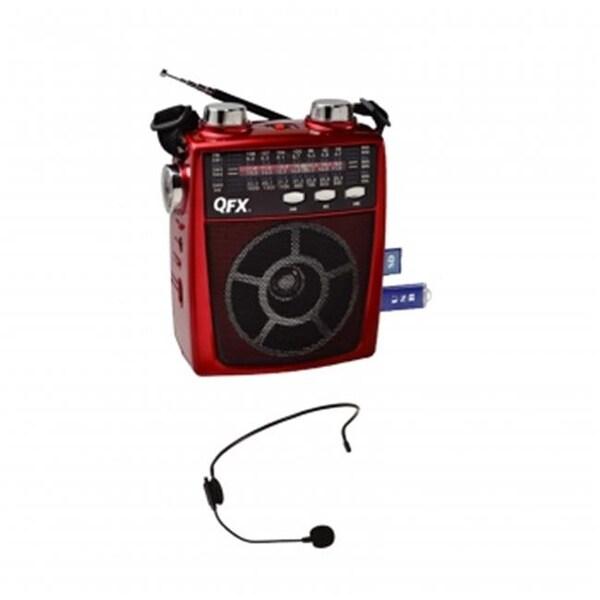 QFX Portable PA system USB, SD & AM, FM, SW1-6 Radio 8
