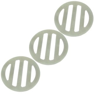 "Unique Bargains Unique Bargains 3 Pcs 6.2cm 2.4"" Diameter Round Stainless Steel Floor Drain Covers"