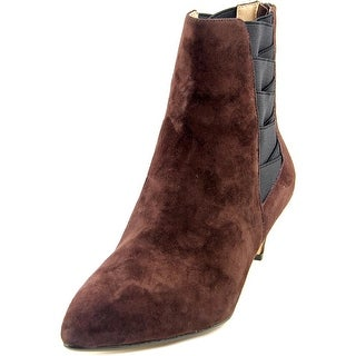 Nina Yanni Women Pointed Toe Suede Brown Ankle Boot