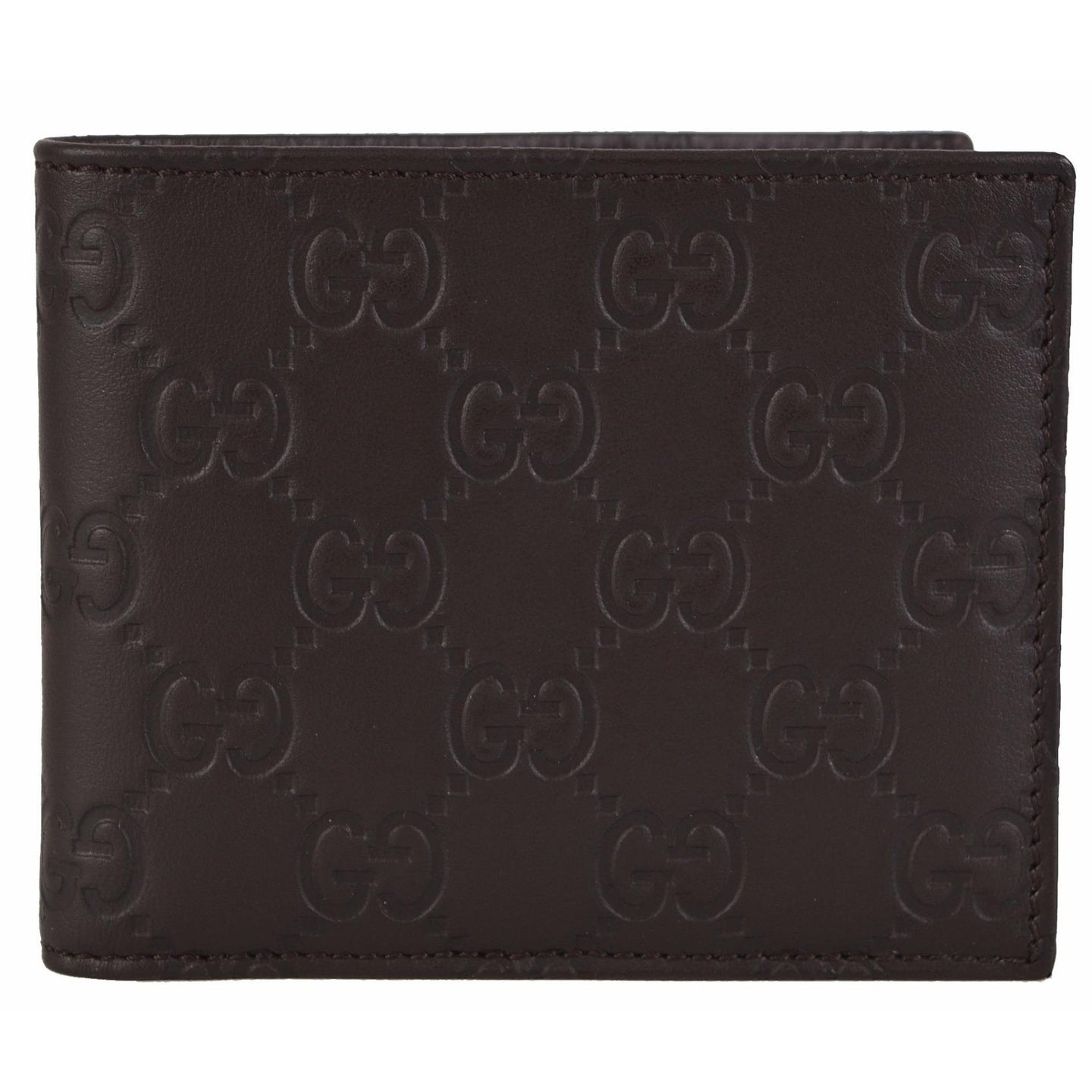 Gucci 260987 Men's Brown Leather GG Guccissima Bifold Wallet - Thumbnail 0