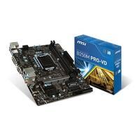 Msi B250m Pro-Vd Intel B250 Lga 1151 Ddr4 Hdmi Usb 3.1 Micro-Atx Motherboard