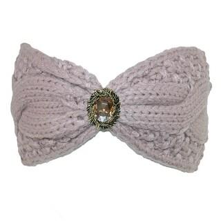 CTM® Women's Knit Headwrap with Jewel - One size