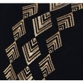 "G Home Collection Luxury Black And Gold Geometry Pattern Embroidered Pillow 14""X22"" - Thumbnail 3"