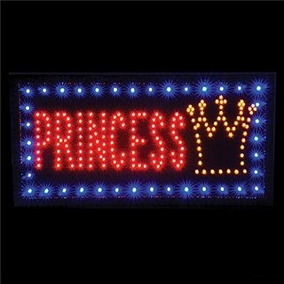 "Rhode Island Novelty 10 x 19"" Light-up Princess Sign Childrens Party Decorations"