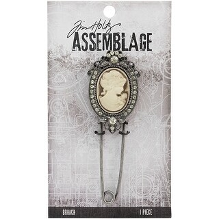 Cameo - Tim Holtz Assemblage Broach