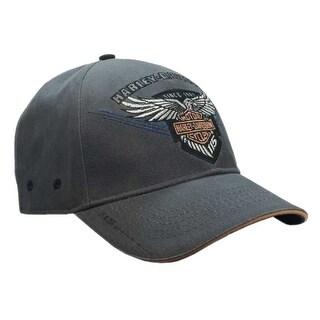 Harley-Davidson Men's Embroidered 115th Anniversary Eagle Baseball Cap BCC25854