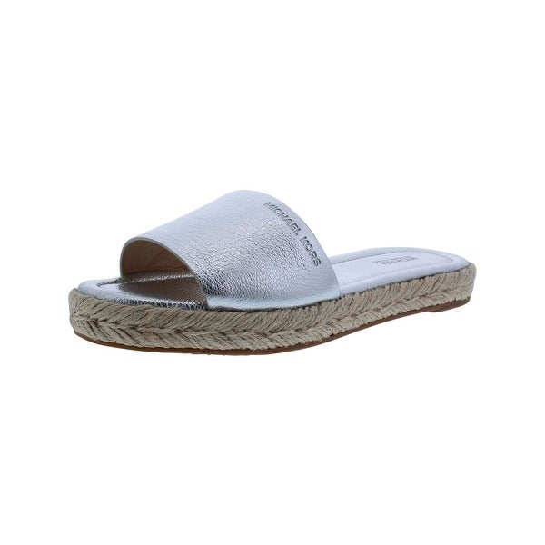 MICHAEL Michael Kors Womens Dempsey Slide Sandals Signature Flip Flops