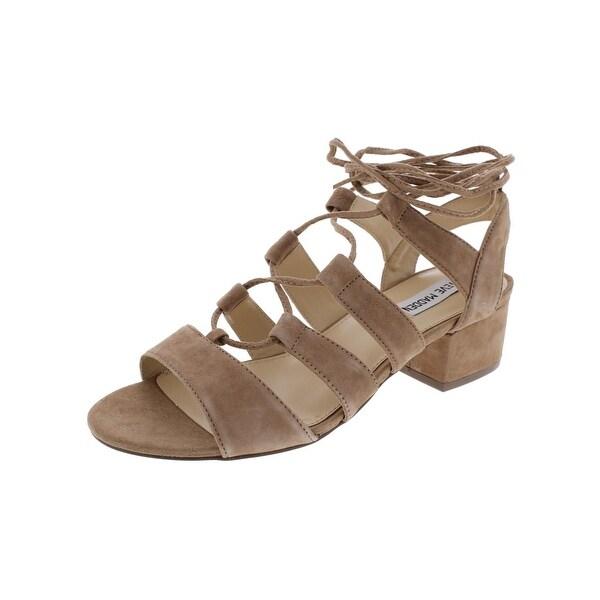 Steve Madden Womens Kittyy Dress Sandals Open Toe Block Heel
