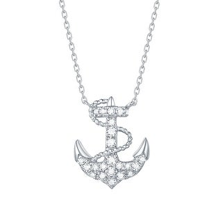 Smiling Rocks 0.23Ct G-H/VS1 Lab Grown Diamond Anchor Necklace