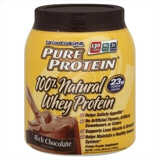 PURE PROTEIN WHEY PRTN RICH CHOC-25.6 OZ -Pack of 1