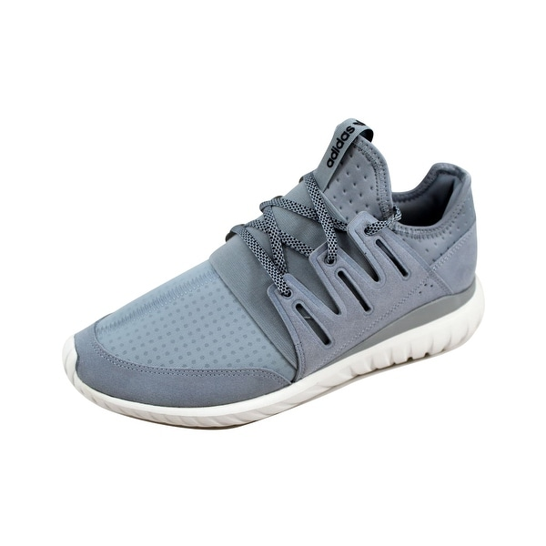 Adidas Men's Tubular Radial Light Grey/Black-Vintage White S80112
