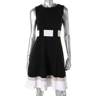 Calvin Klein Womens Colorblock Sleeveless Party Dress - 2