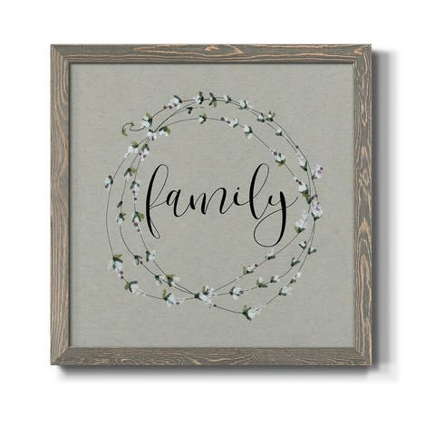 Bouquet of Grace Family Wreath-Premium Framed Print - Ready to Hang