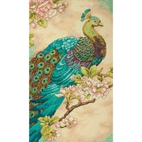 """Indian Peacock Counted Cross Stitch Kit-9""""X15"""" 14 Count"""