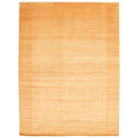 ECARPETGALLERY Hand-knotted Peshawar Ziegler Light Brown Wool Rug - 9'0 x 12'2