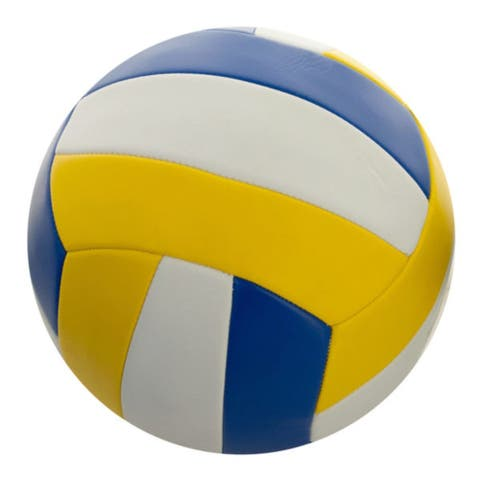 """Pack of 2 Size 5 Yellow and Blue Volleyball 8.5"""""""