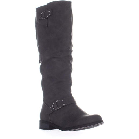Xoxo Womens Minkler Round Toe Knee High Riding Boots