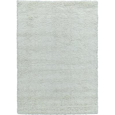 Moon Solid Shag Modern Plush Cream Door Mat 2 ft. by 3 ft.