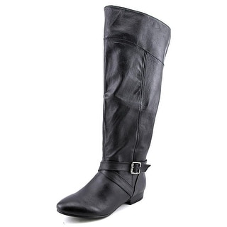 Chinese Laundry Spring Street Round Toe Leather Knee High Boot