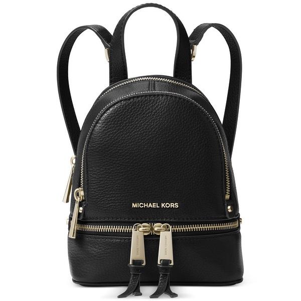 1762bcf66d7d MICHAEL Michael Kors Rhea Zip Extra Small Messenger Backpack Black - One  Size