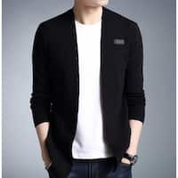 Mens Slim Fit Cardigan with Button Design - Gray - M