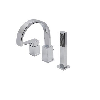 Anzzi FR-AZ473 Nite Widespread Lever Handle Tub Filler - Handshower Included