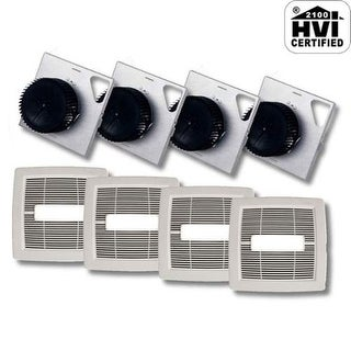 NuTone AEN80BLF InVent Series 80 CFM 1.5 Sones HVI Certified Finish Pack with Gr