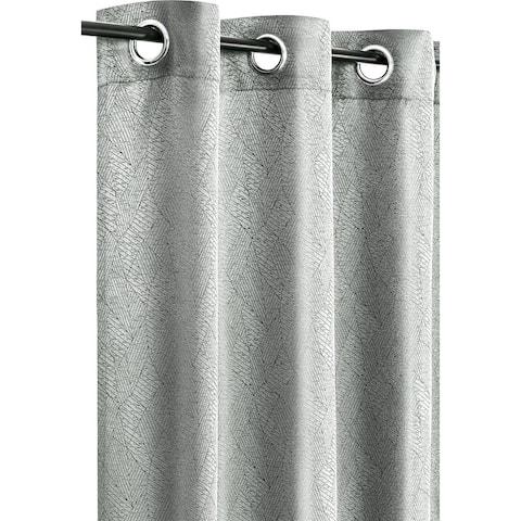 "Curtain Jacquard Vania Grey - 96"" x 54"""