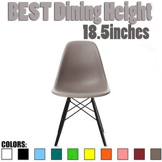 2xhome Modern Plastic Dining Chair Color With Dark Black Wood Legs - N/A