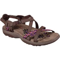 Skechers Women's Reggae Slim Vacay Sandal Chocolate