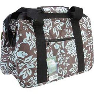 """18""""X10""""X12"""" Blue Floral - Janetbasket Eco Bag"""
