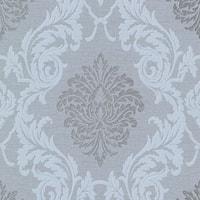 Brewster 495-69043 Rennie Grey Damask Wallpaper