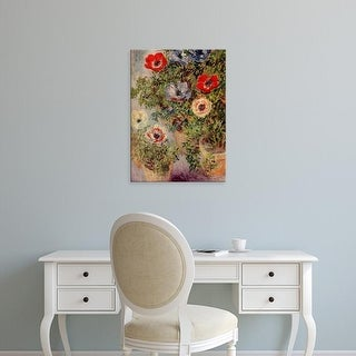 Easy Art Prints Claude Monet's 'Anenomes' Premium Canvas Art